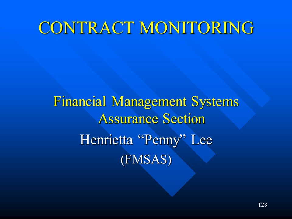 Financial Management Systems Assurance Section