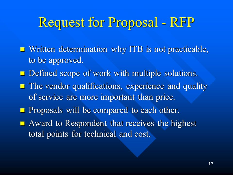 Request for Proposal - RFP