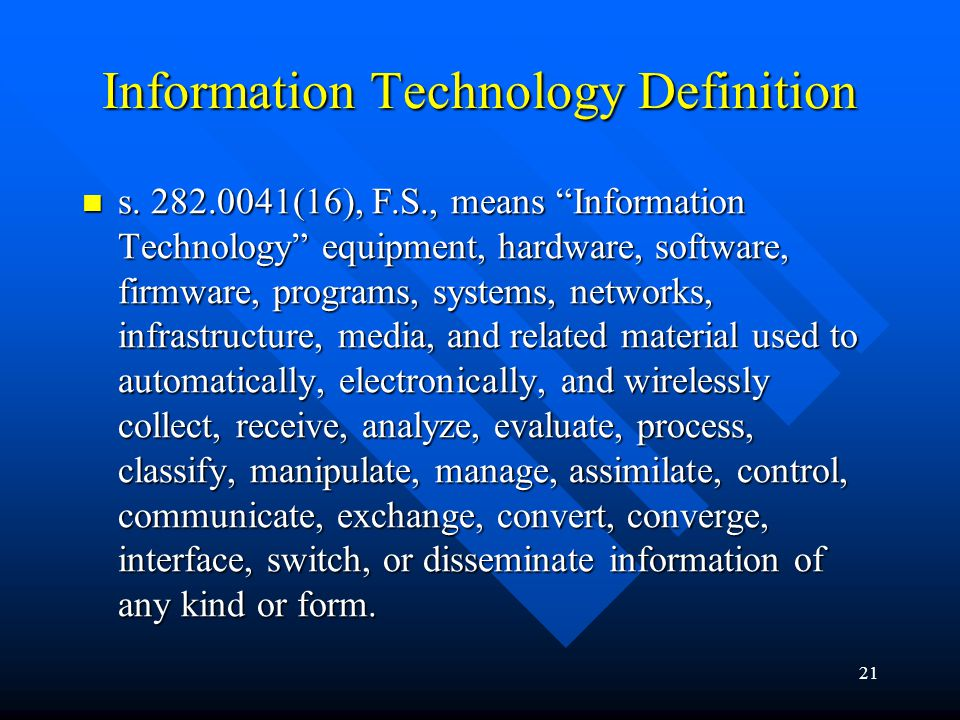 Information Technology Definition