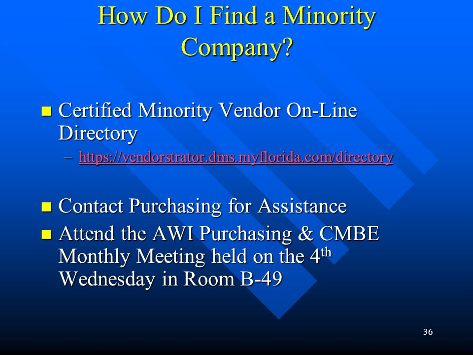 How Do I Find a Minority Company