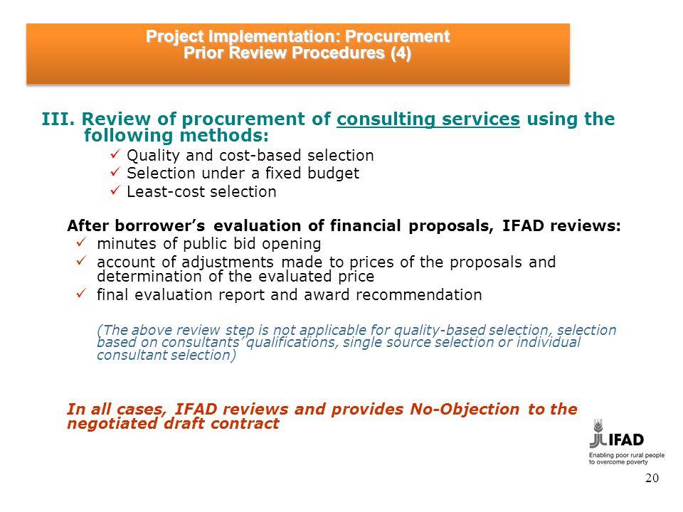 Project Implementation: Procurement & Contract Management