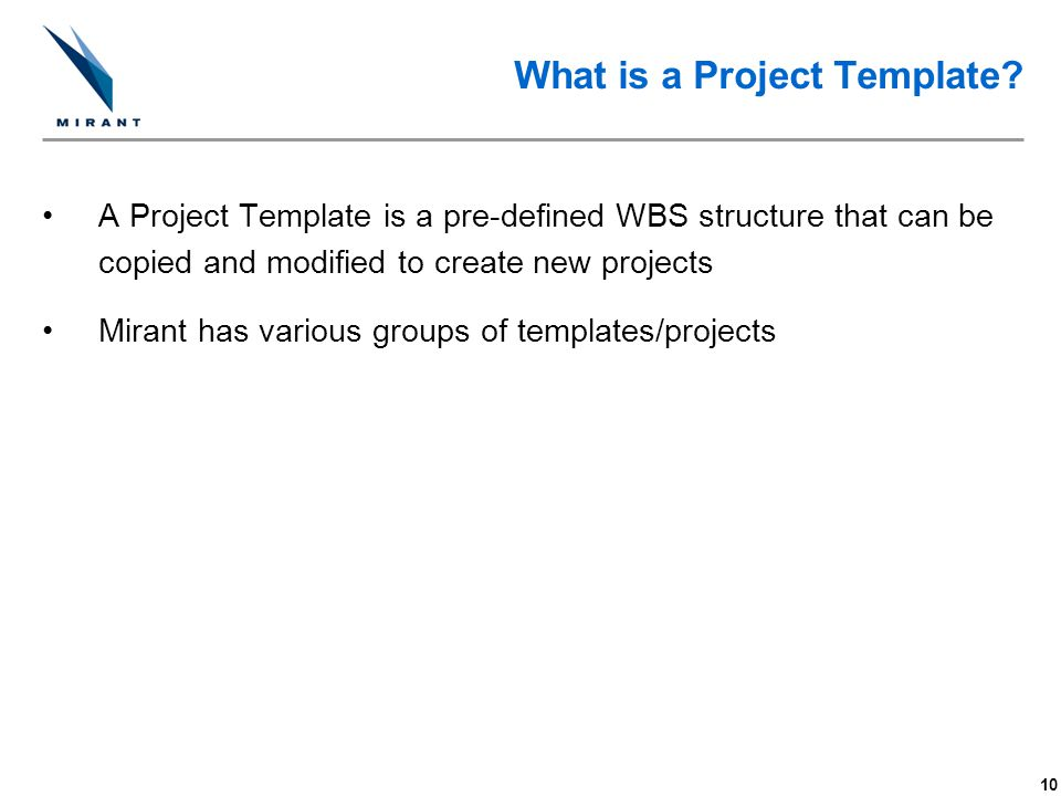 What is a Project Template