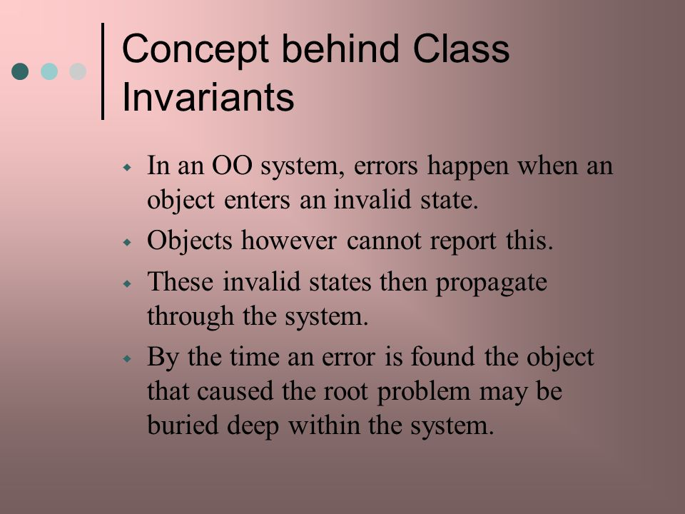 Concept behind Class Invariants