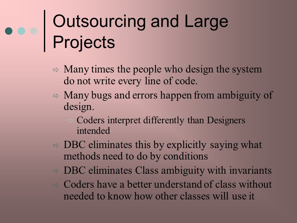 Outsourcing and Large Projects