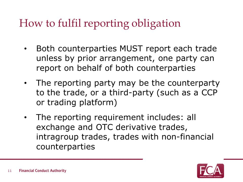 How to fulfil reporting obligation