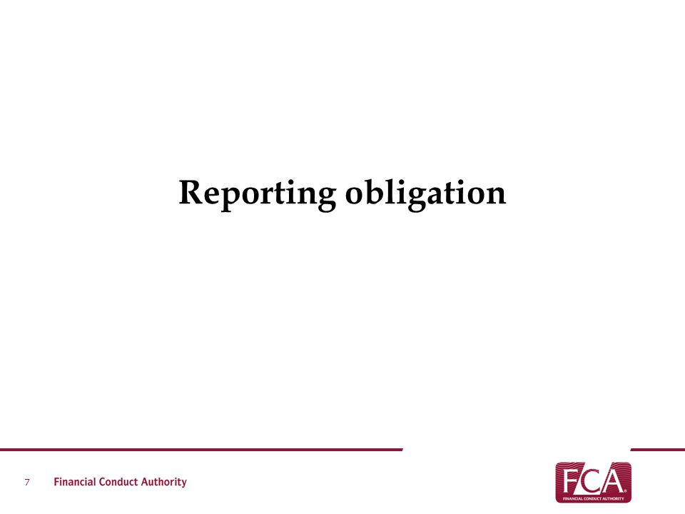 Reporting obligation