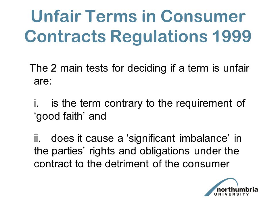 Consumer Contracts Regulations >> Exclusion Or Exemption Clauses Ppt Download