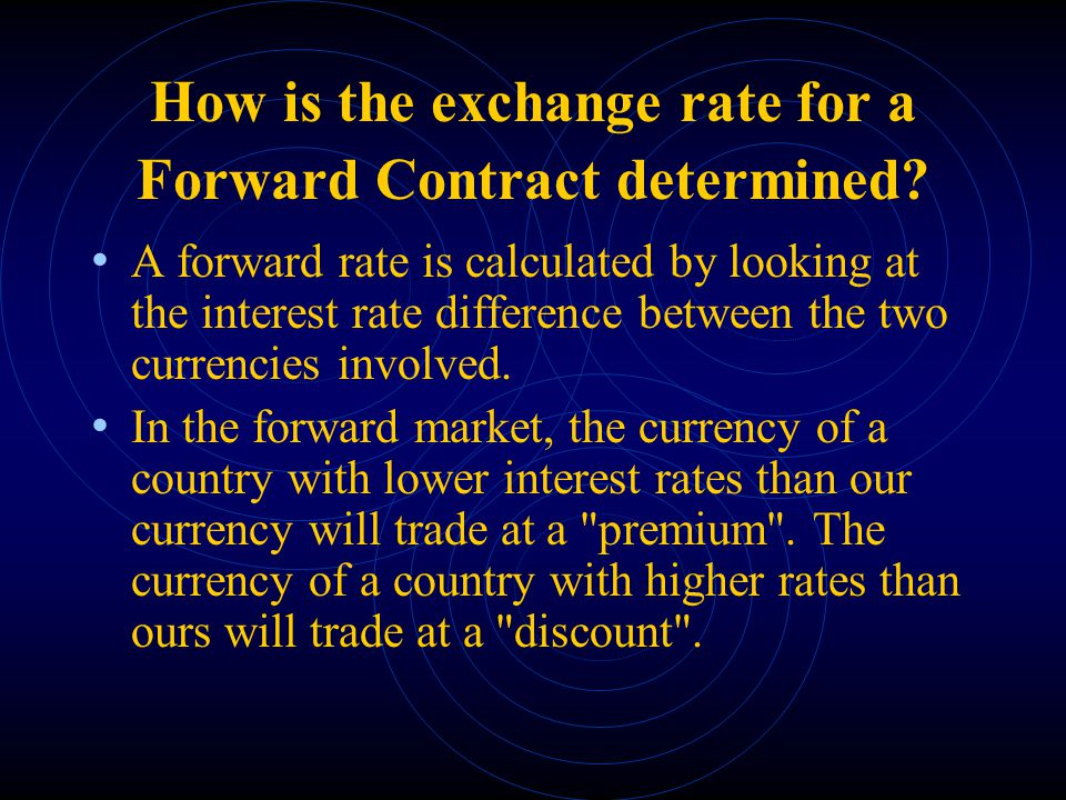 Foreign exchange forward contract example.