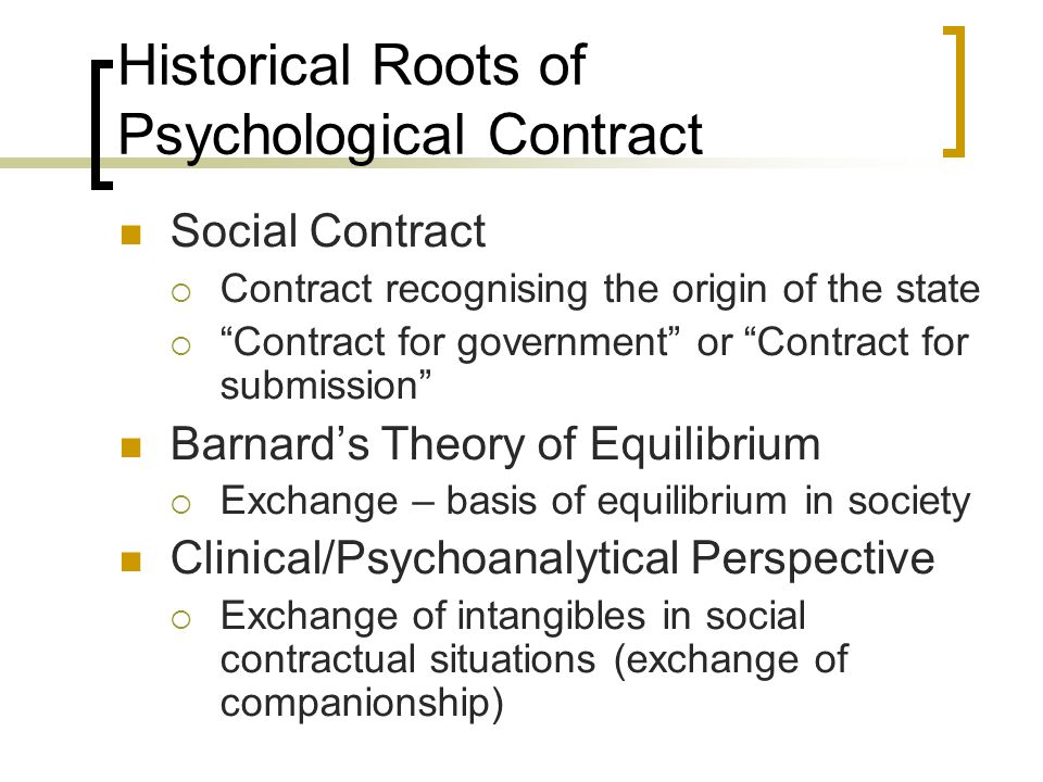 Psychological Contract Ppt Download