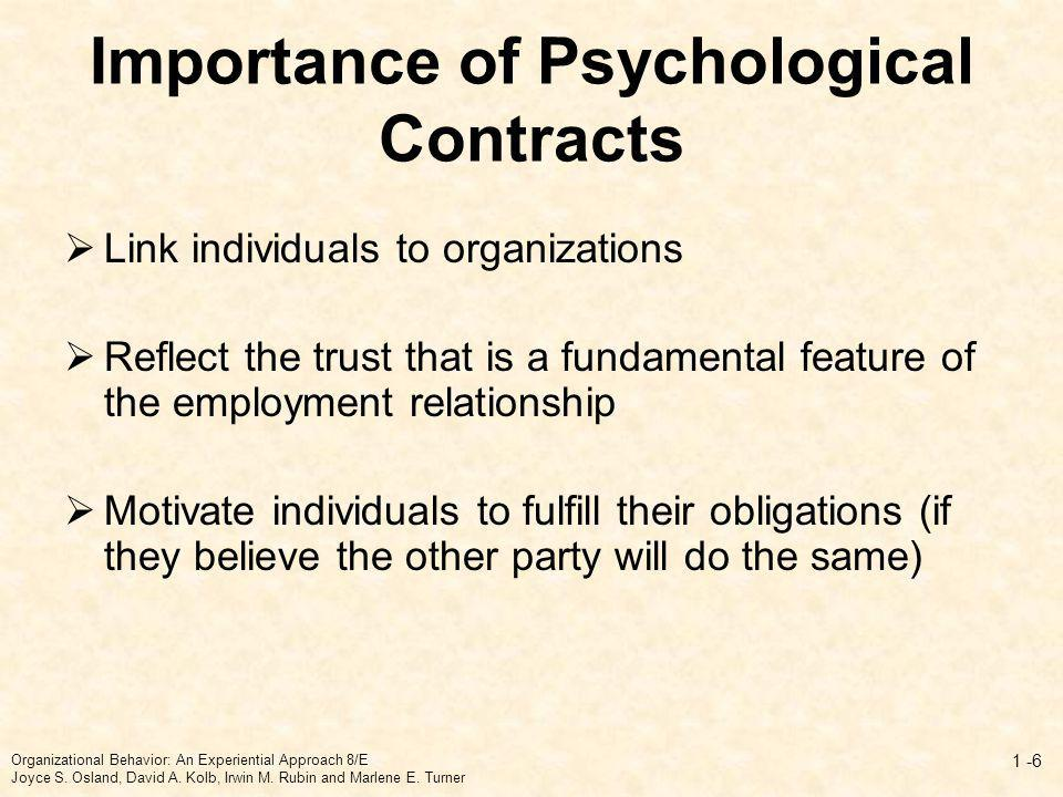 psychological contracts in organizations