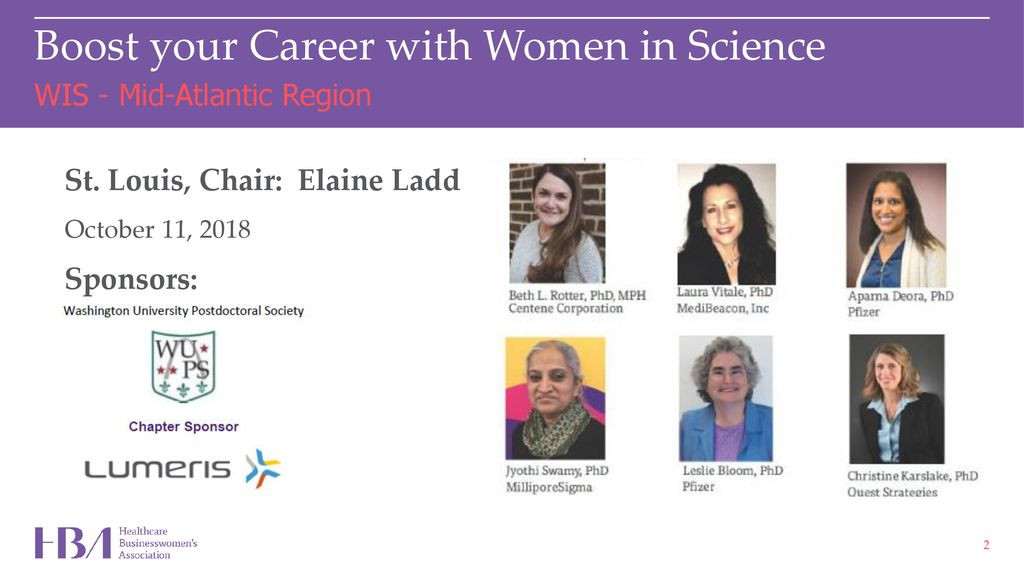 HBA Women In Science Affinity Group - ppt download