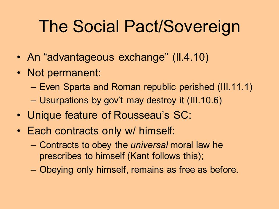 The Social Pact/Sovereign