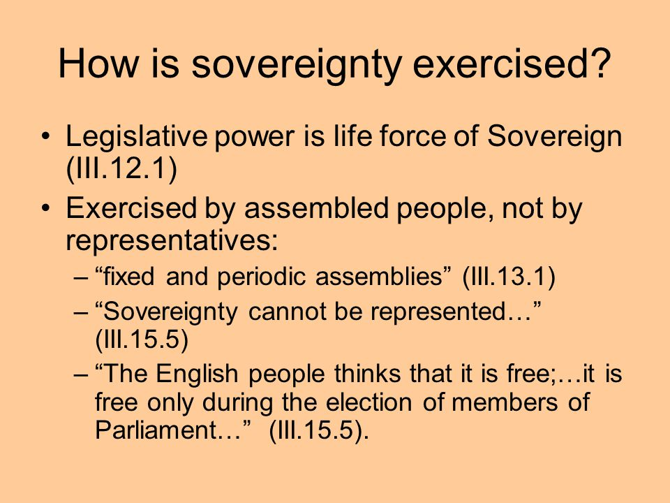 How is sovereignty exercised
