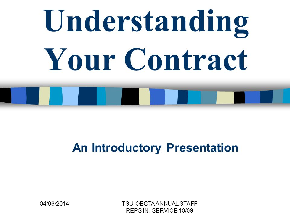 Understanding Your Contract