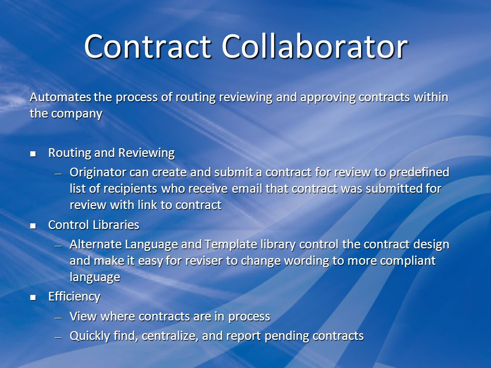 Contract Collaborator