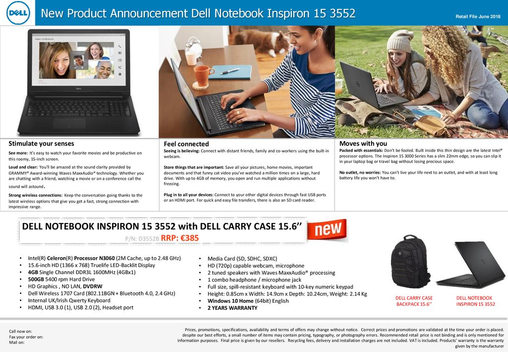 DELL NOTEBOOK INSPIRON with DELL CARRY CASE 15 6'' - ppt