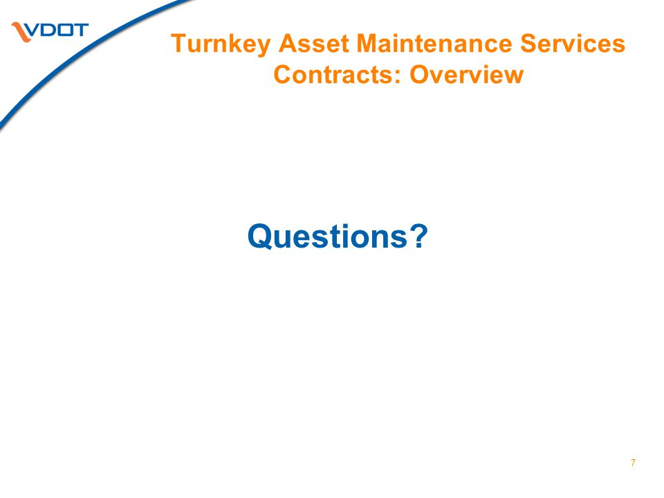 Turnkey Asset Maintenance Services Contracts: Overview