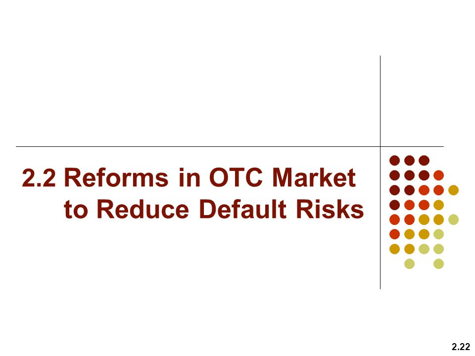2.2 Reforms in OTC Market to Reduce Default Risks