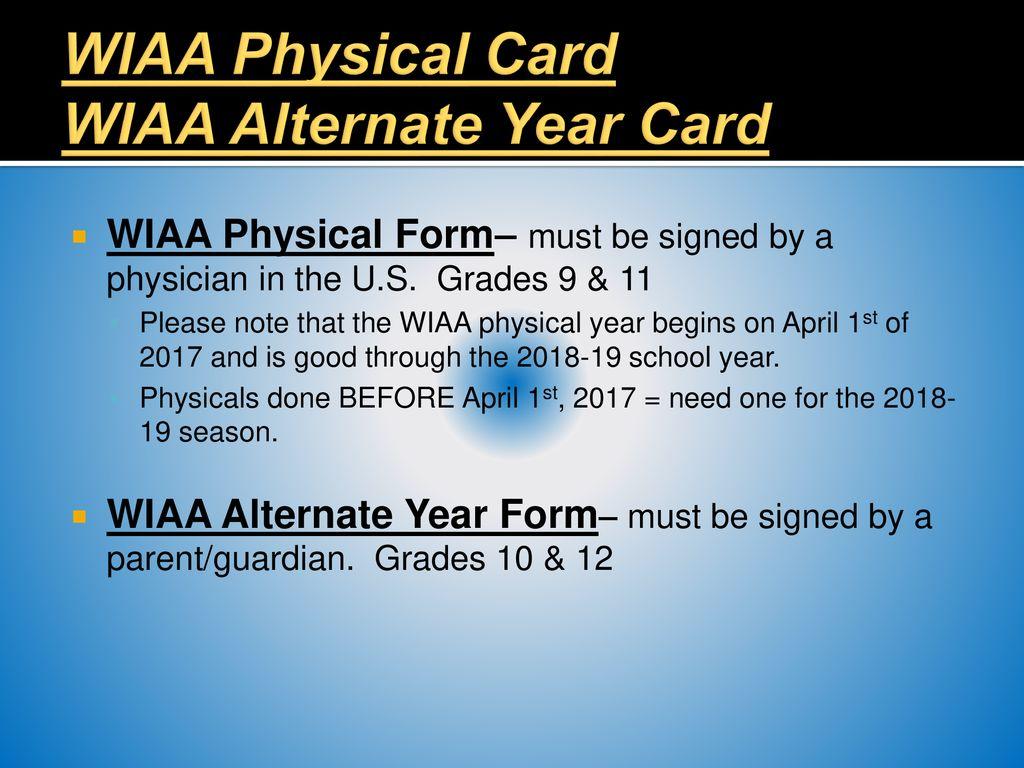 sports physical form wiaa  Germantown High School Winter Sports Information Night Mrs ...