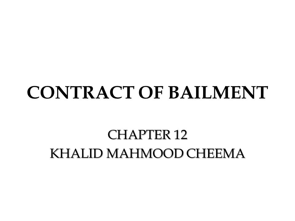 CHAPTER 12 KHALID MAHMOOD CHEEMA