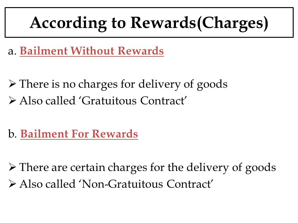 According to Rewards(Charges)