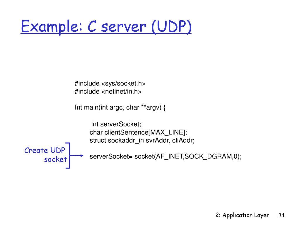 6: Socket Programming Last Modified: 2/15/ :49:22 AM - ppt