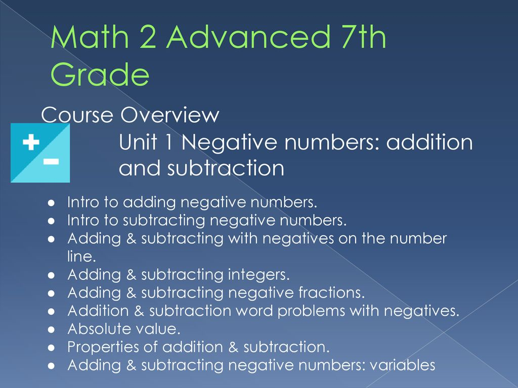 """Math 2 Advanced 7th Grade """"Shoot for the moon  Even if you miss, you"""