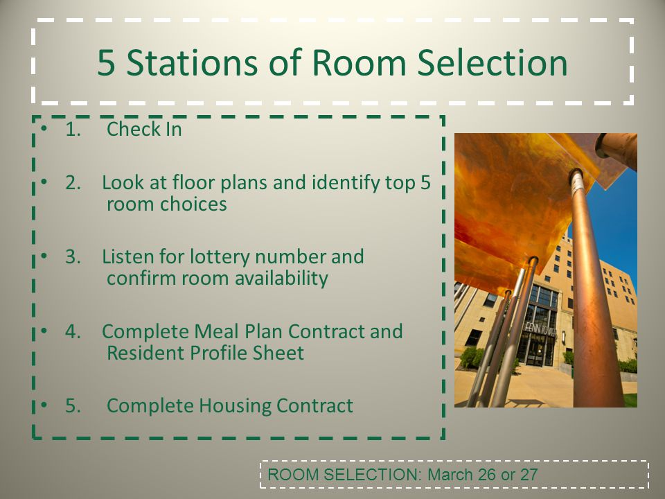 5 Stations of Room Selection