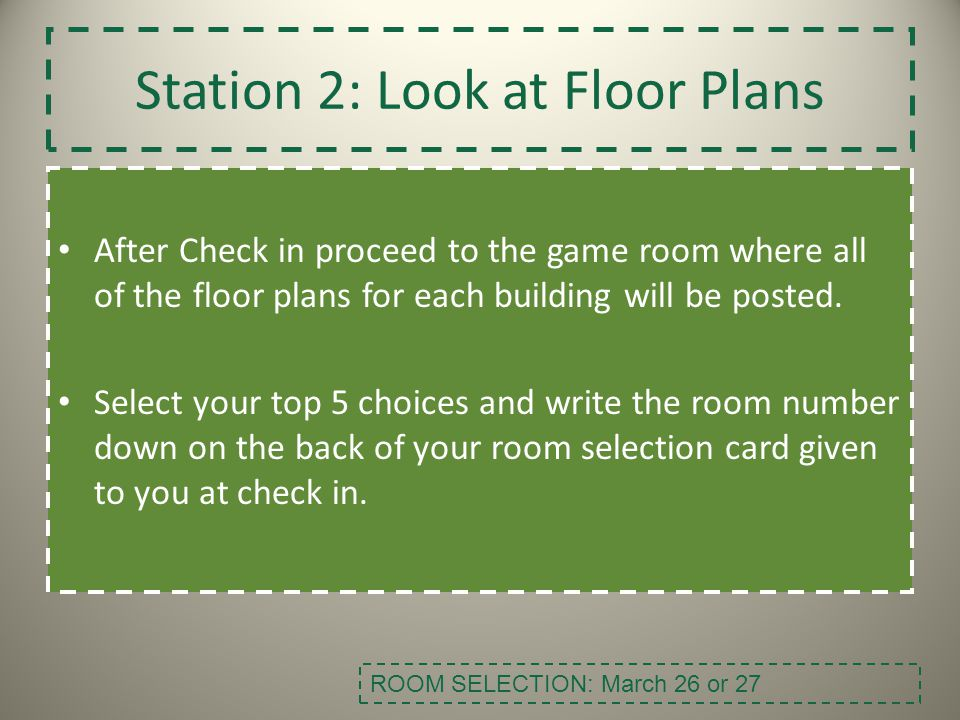 Station 2: Look at Floor Plans