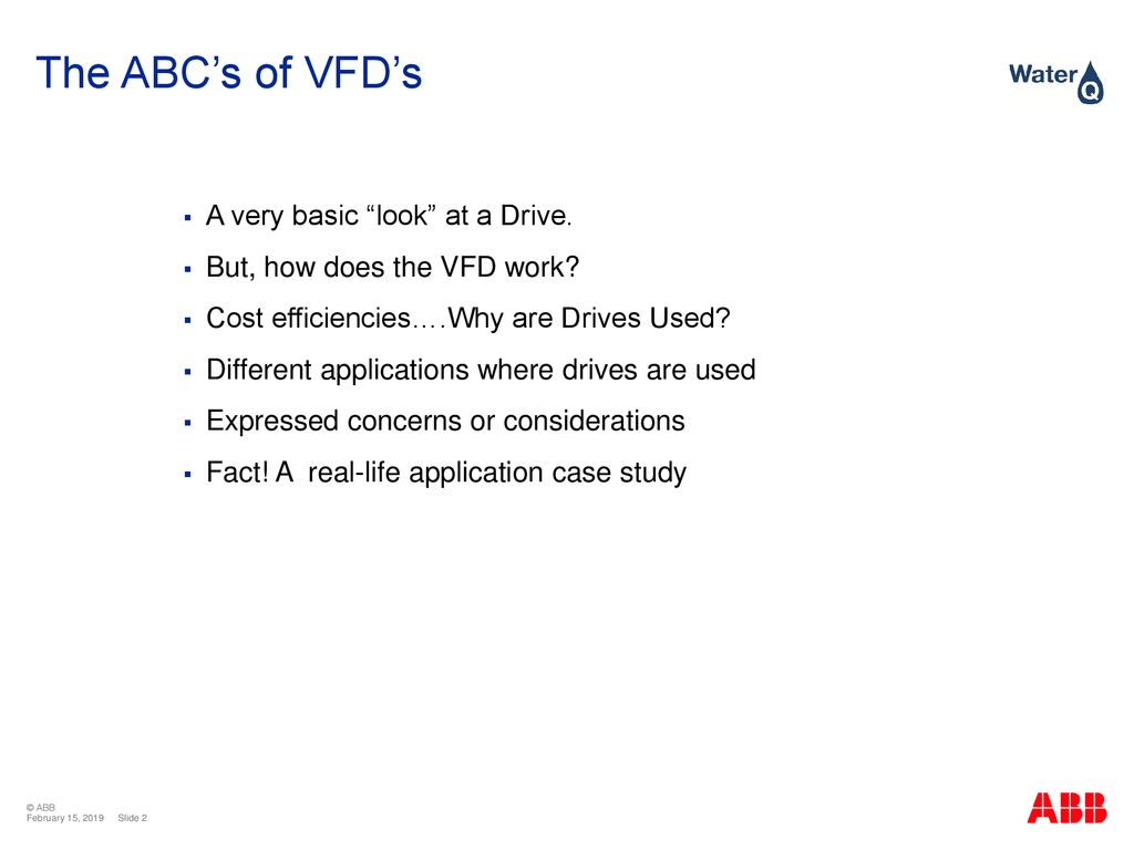 The ABC's of VFD's Larry Stanley - ppt download