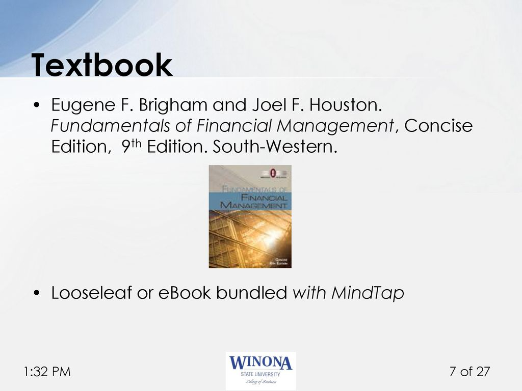 Financial Management Brigham Ebook
