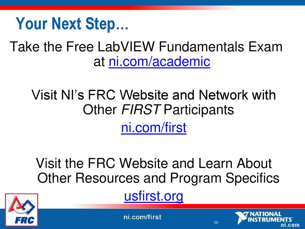Note: before starting launch LabVIEW and the Example Finder