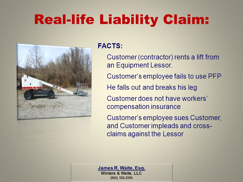 Real-life Liability Claim: