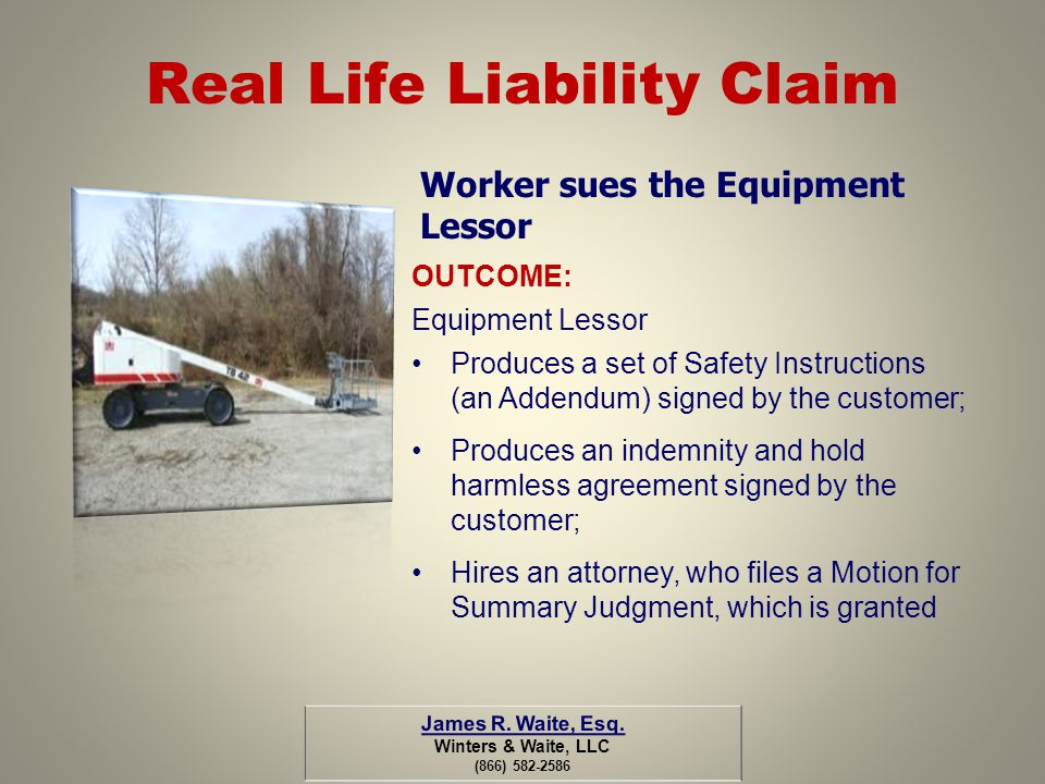 Real Life Liability Claim