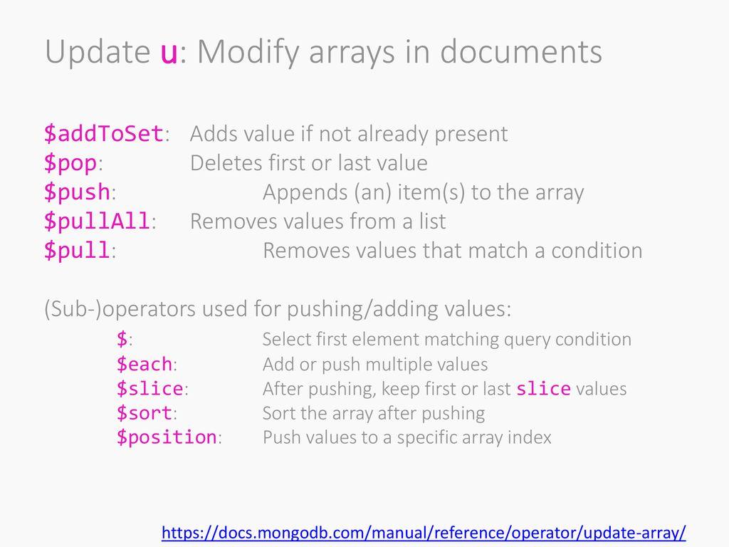 CC Procesamiento Masivo de Datos Otoño Lecture 9 NoSQL: MongoDB