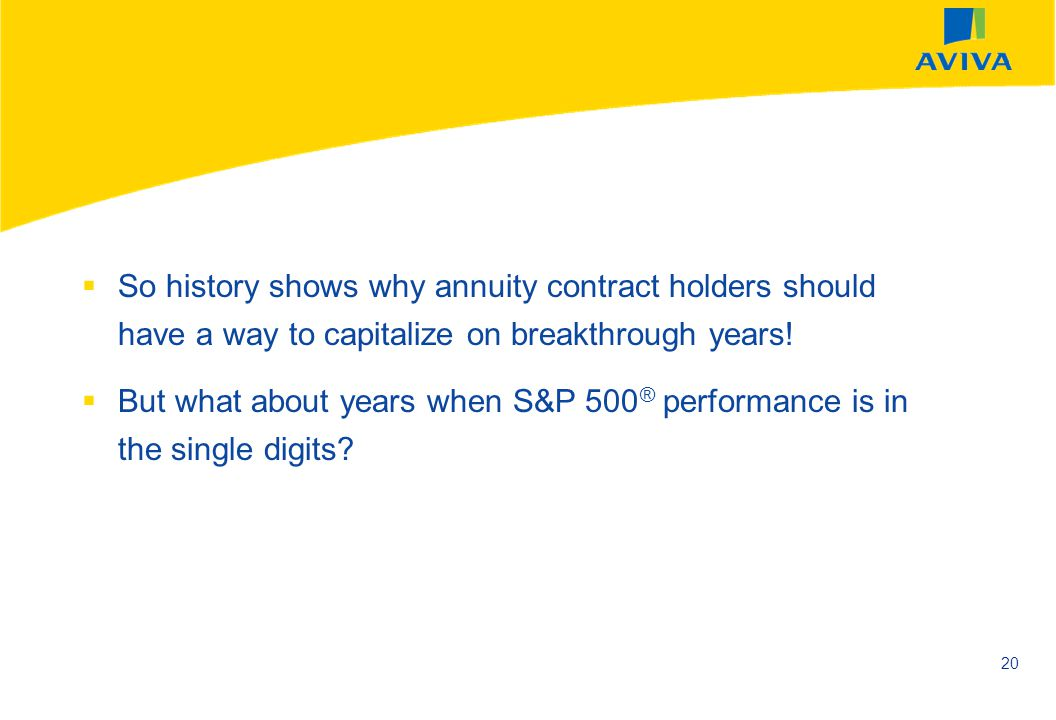 So history shows why annuity contract holders should have a way to capitalize on breakthrough years!