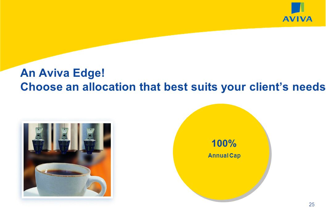An Aviva Edge! Choose an allocation that best suits your client's needs