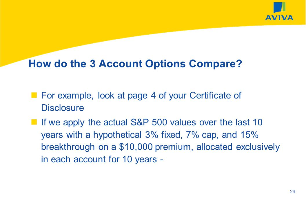 How do the 3 Account Options Compare