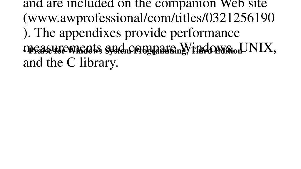 Windows C Library
