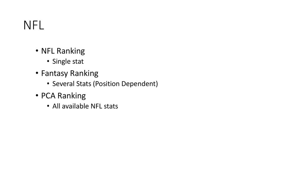 SVD, PCA, AND THE NFL By: Andrew Zachary  - ppt download