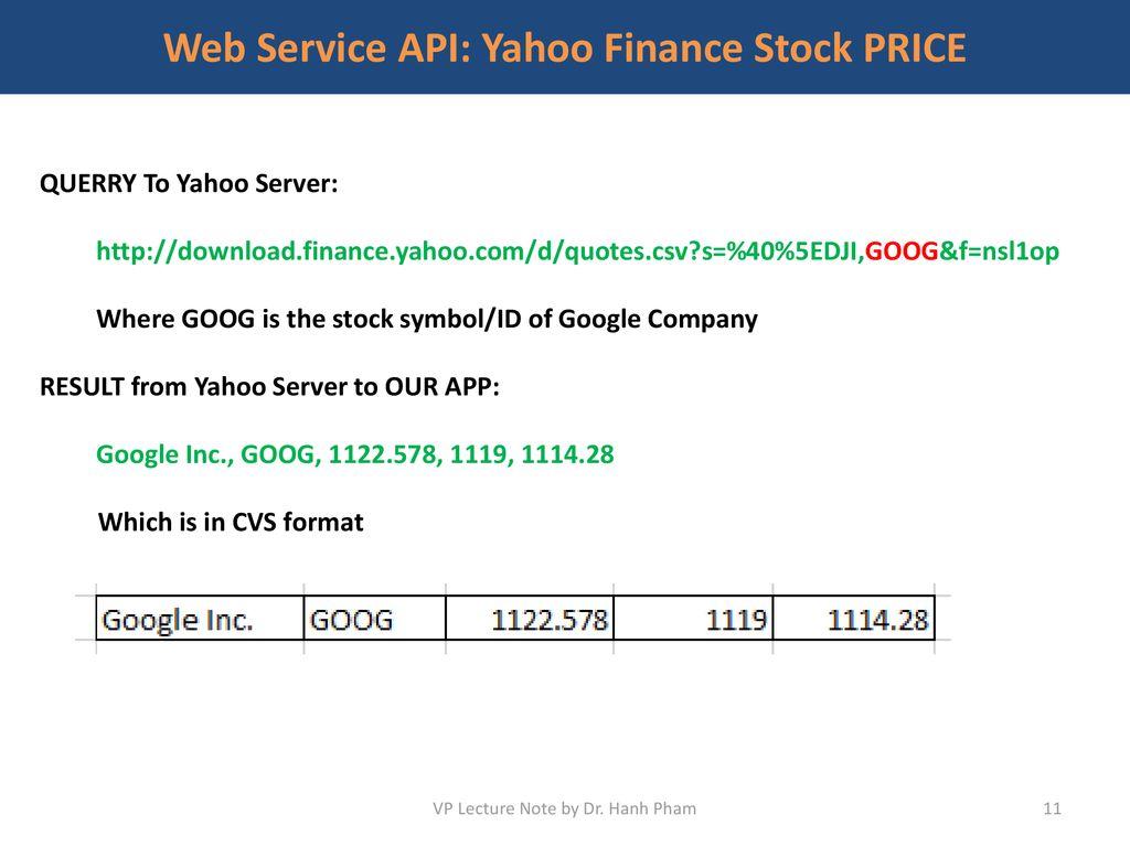 Stock Symbol Api