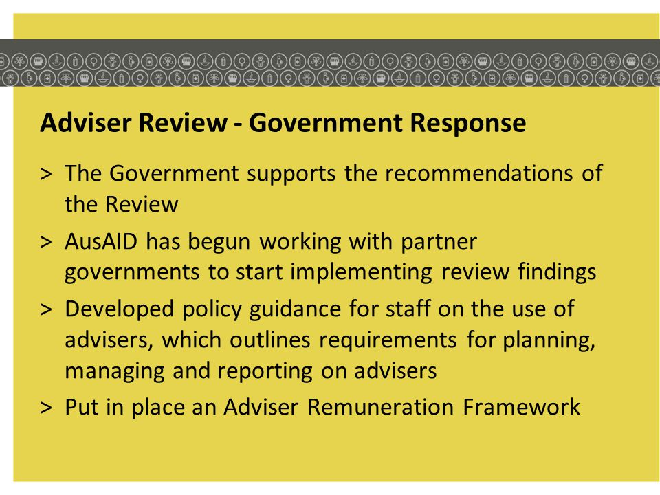 Adviser Review - Government Response