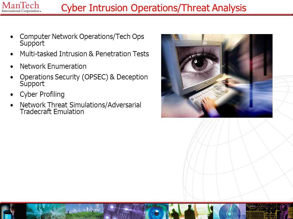 Cyber Intrusion Operations/Threat Analysis