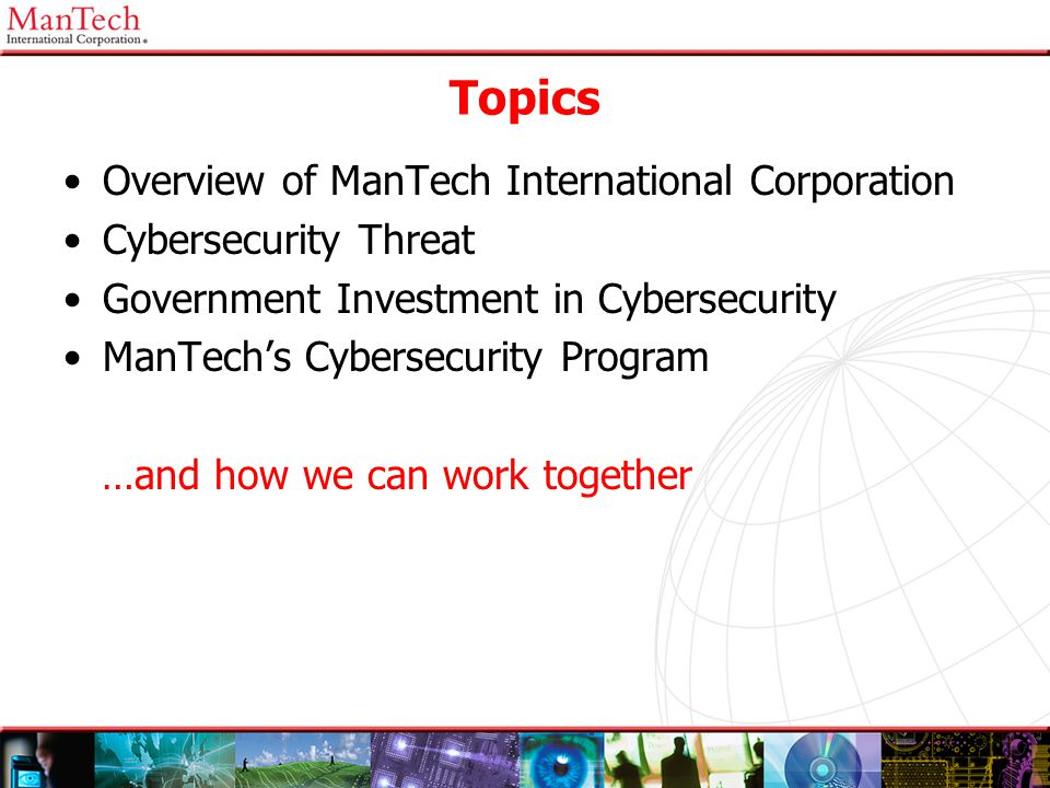 Topics Overview of ManTech International Corporation