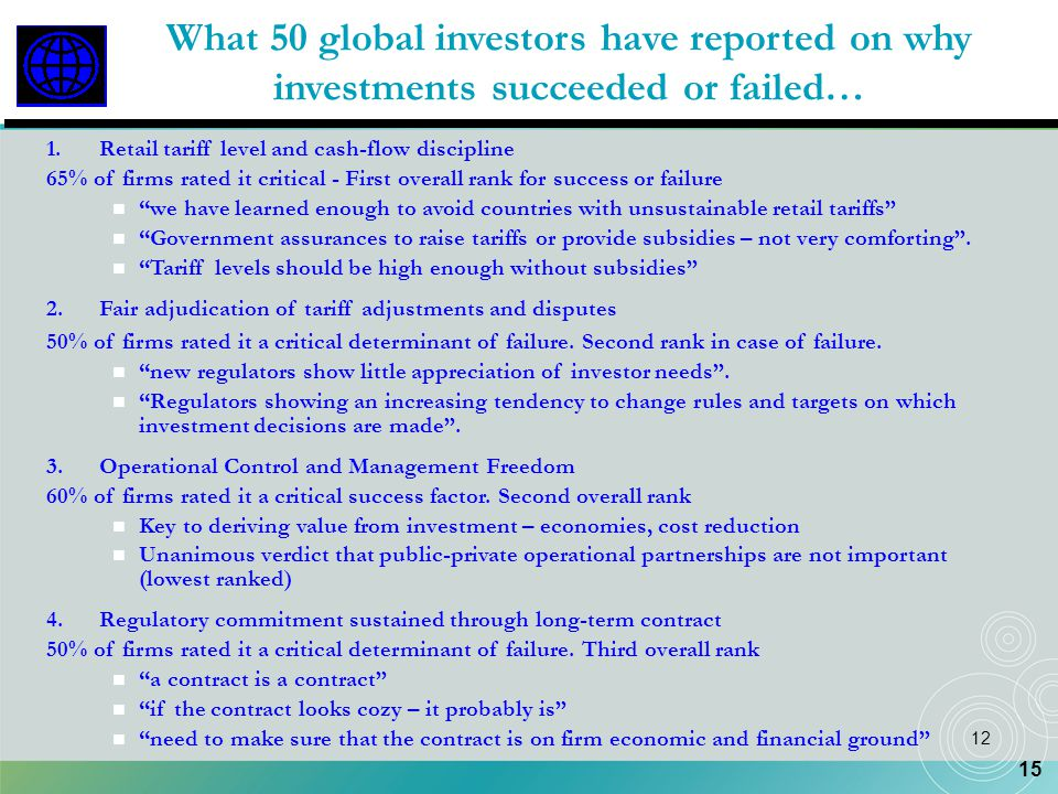 What 50 global investors have reported on why investments succeeded or failed…