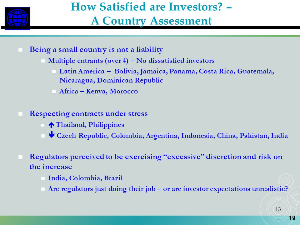 How Satisfied are Investors –