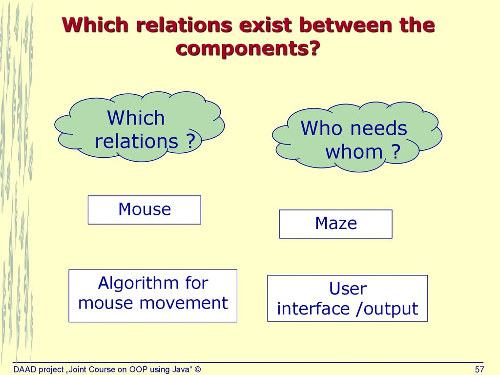 The non-trivial Java example 'Mouse in a Maze' - ppt download