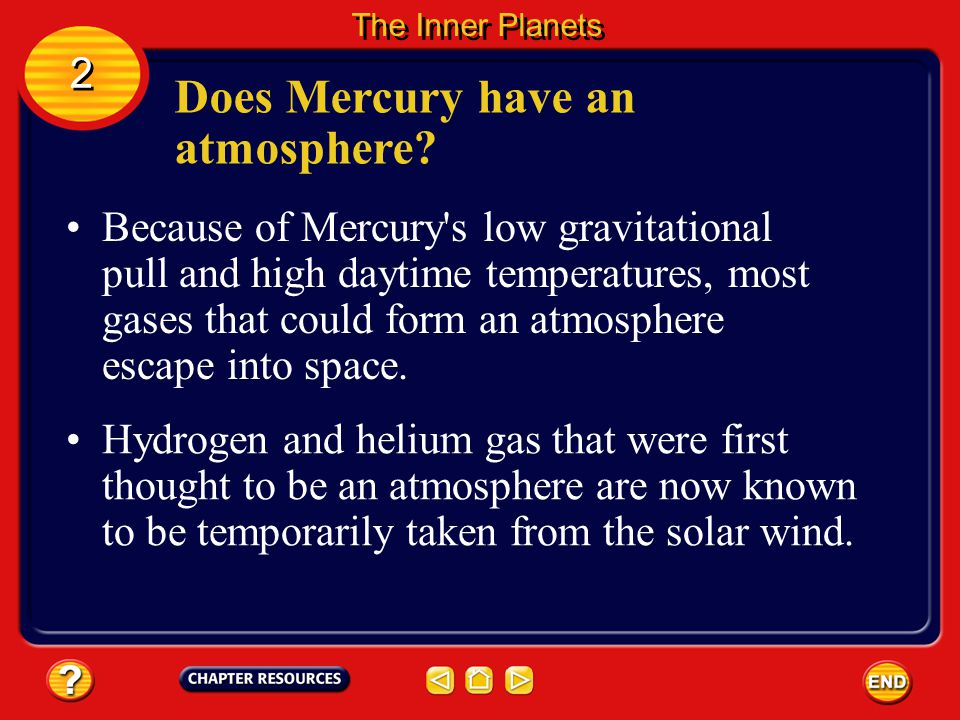 Does Mercury have an atmosphere