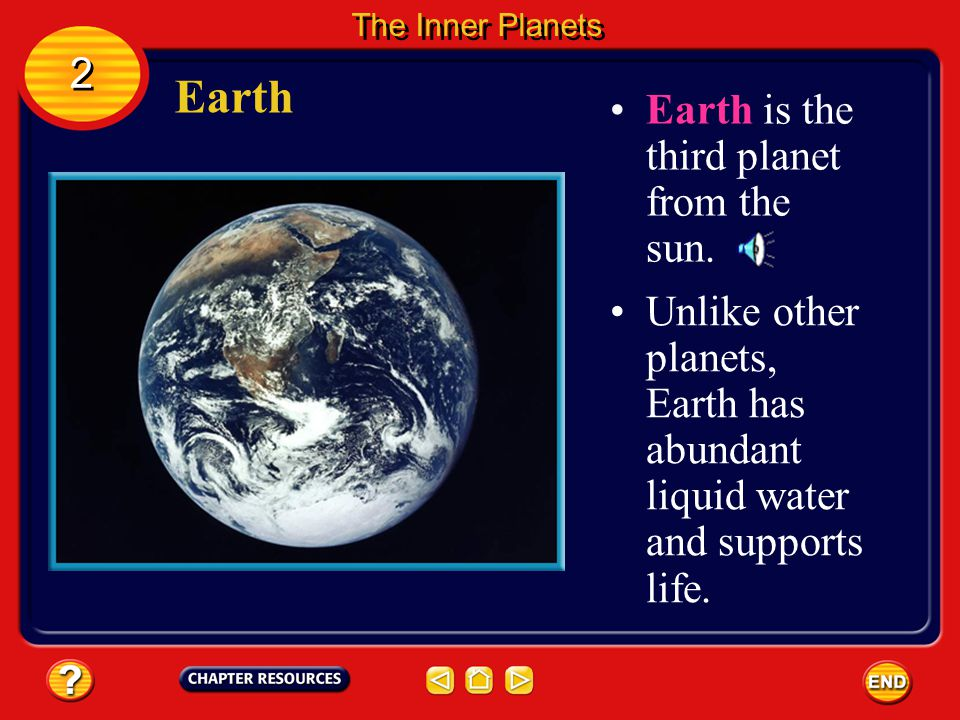Earth 2 Earth is the third planet from the sun.