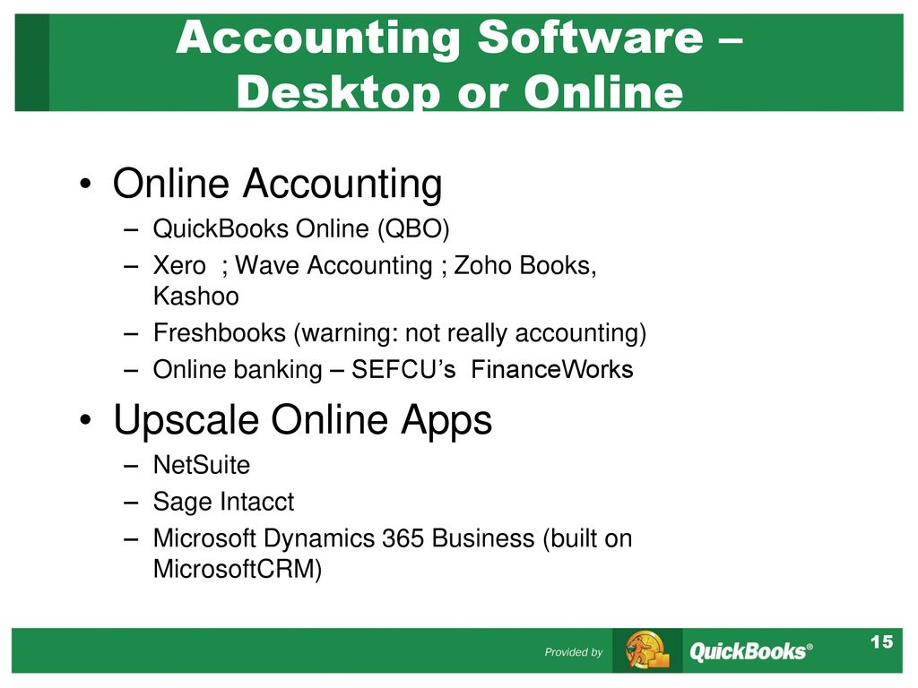 QuickBooks and Other Accounting Software - ppt download
